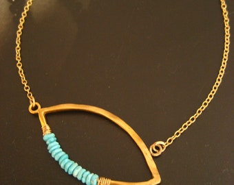 Marquis necklace with sleeping beauty turquoise