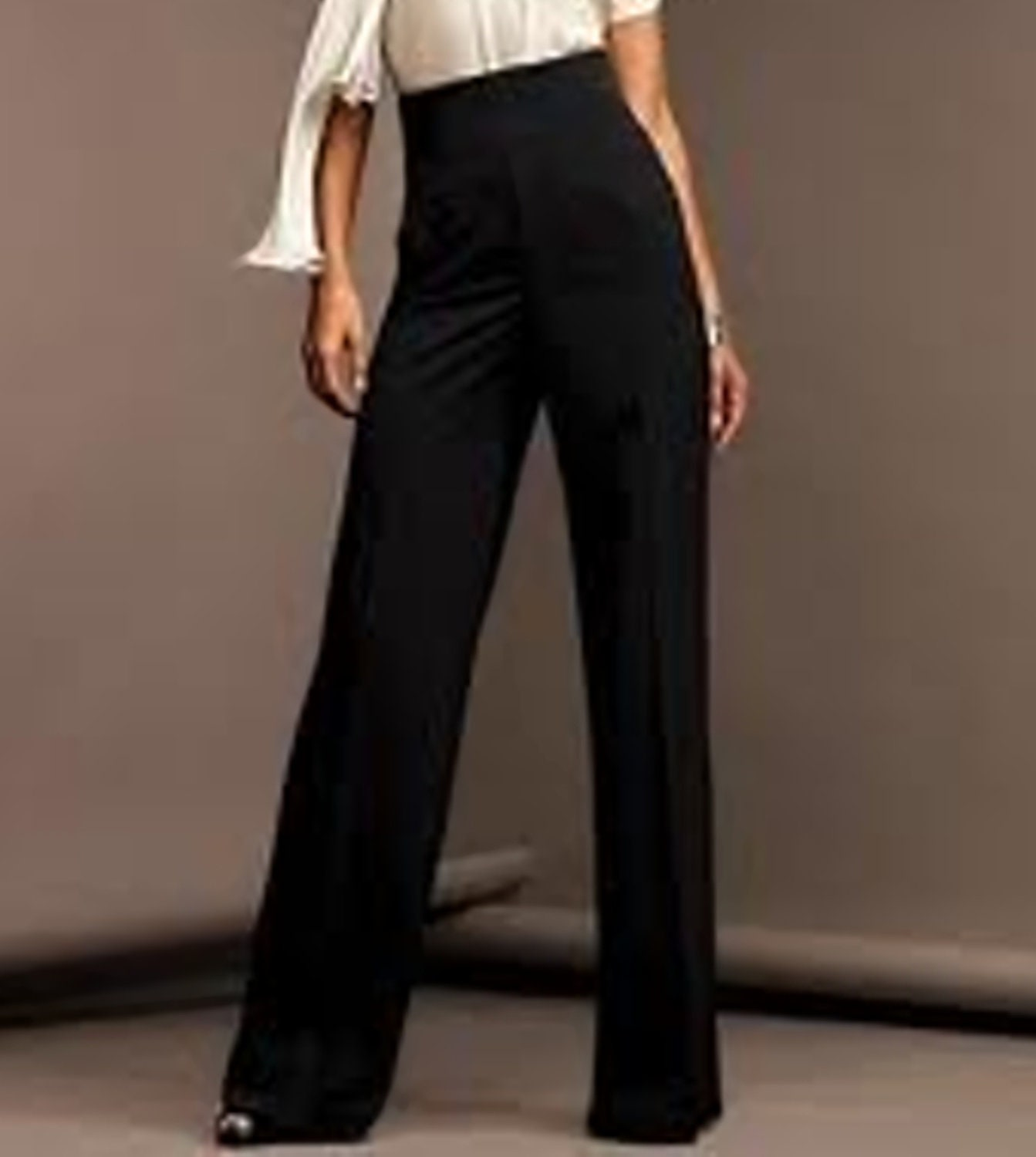 high waisted black pants wide leg - Pi Pants