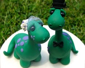Dino Love Custom Keepsake Wedding Cake Topper