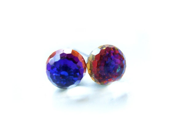 Swarovski Crystal Ball Earrings Special Edition Rainbow