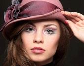 Hat Exclusive  -Flapper Powder Pink Hat