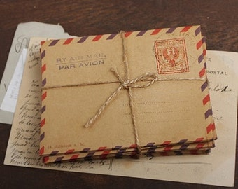 C6 Kraft Envelopes Vintage Style Italy 10pcs BIG size