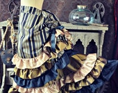 NEW Victorian Steampunk Edwardian Black Silver Bronze Gold Brown Bustle Skirt