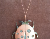 LADYBUG Copper Verdigris Ornament - Handcrafted in The Copper State (Arizona USA)