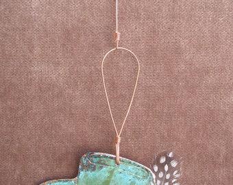 COWBOY HAT Copper Verdigris Ornament - Handcrafted in The Copper State (Arizona USA)