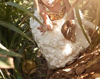 Girls Sweetheart Princess Rosette Dress