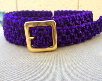 Macrame Belt in Purple