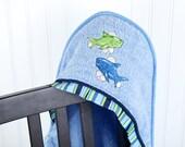 child beach towel shark hooded bath towel