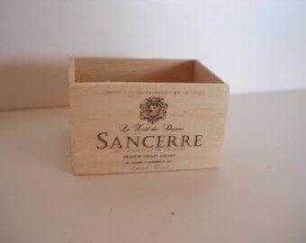 Dollshouse miniature wine crate - miniature wooden crate - 1:12the one inch scale - miniature wine - dollshouse kitchen cellar