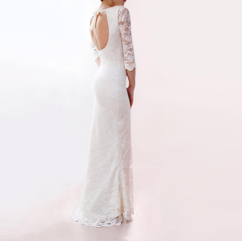 Bohemian Wedding Lace Dress Custom Made Dress Hippie Boho