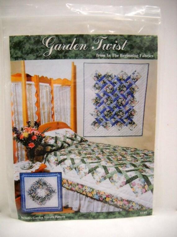 Twister Quilt Pattern Directions : Garden Twist Quilt Pattern Pattern and Instructions