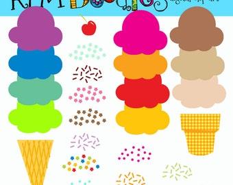 KPM RAinbow Build your own ice cream cones COMBO