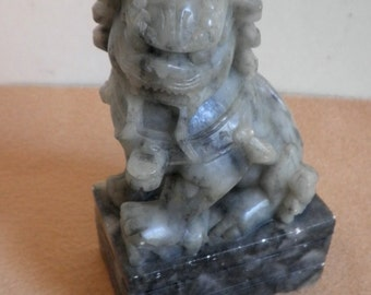 Marble Black/Green Chinese Foo Dog