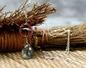 Moss Aquamarine & Pink Tourmaline Necklace