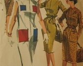 Vintage McCall's 6140 Sewing Pattern, Shift Dress Pattern, 1960s Dress Pattern, Pockets, Bust 32 Inches, Vintage Sewing Supply, Zipper Dress