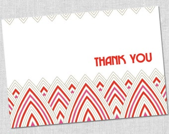 Vivid Blooms Thank You Notes - Set of 10