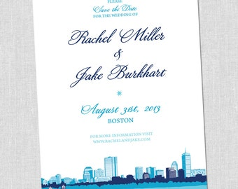 SMALL Boston Save the Date Card