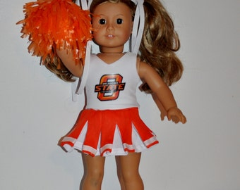OSU Cheerleader outfit  that fits AMERICAN GIRL dOLLS