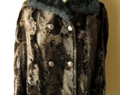 Fur Winter Cape / Poncho, Size 14, fits Large or XL