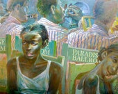 Big Band Dance Hall Art Original Large Painting by the Artist Gary Pickering