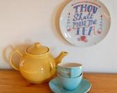 Decorative Plate Tea Theme