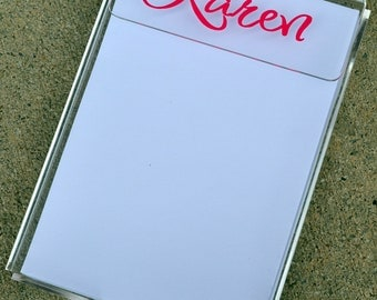 PERSONALIZED Memo Notepad Holder - Teacher Gift