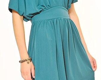 short summer dress with kimono sleeves