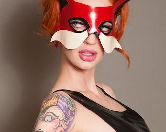Latex Fox masquerade mask