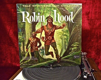 The Famous Theatre Company w/the Hollywood Studio Orchestra - ROBIN HOOD - 1960s Vintage Vinyl Record Album