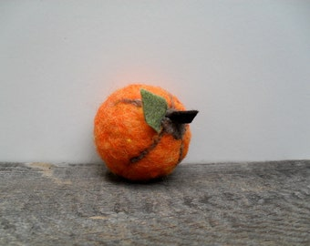 Catnip Cat toy pumpkin needle felted