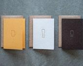 Amber Beer Mug Letterpressed Cards - Set of 25
