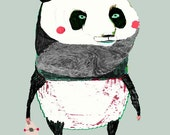 The Panda. art print - panda art - illustration print - kids decor - wall art - panda decor.