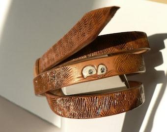 Handmade leather skinny belt