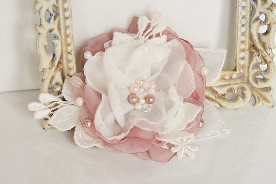 Blush Pink Hair Flower Or Brooch Bridal Wedding: Wedding Hair Flower Blush Pink Wedding Pearl Hair Flower