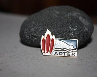 Russian Soviet Pioneer Boy Scouts Camp ARTEK Badge - Souvenir - Cute Rare Badge - USSR - Vintage