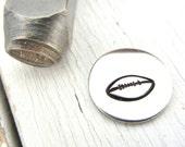 Metal Design Stamp - 6mm Football Metal Design Stamp - Hand Stamping Jewelry Supply