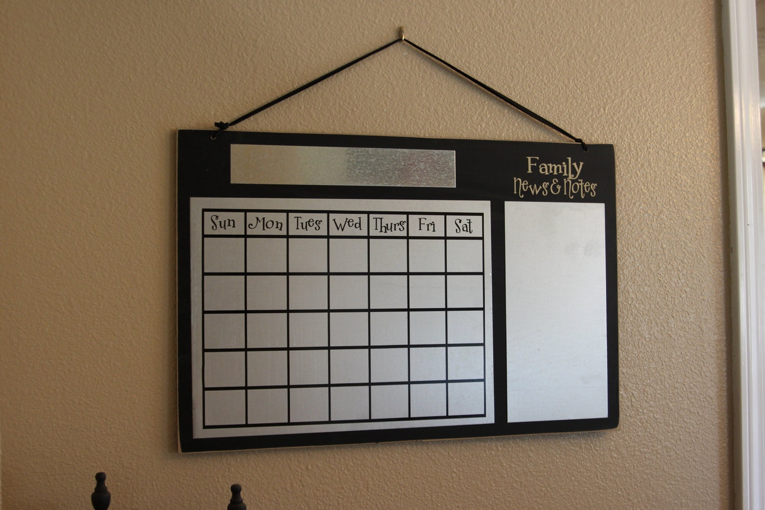 Framed chalkboard for kitchen - Wall Calendar Large Metal Magnetic Reusable For Home Or School Classroom