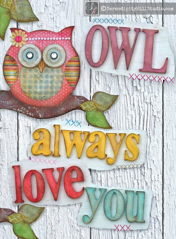 Items similar to 2D PRINT on canvas, owl always love you ...