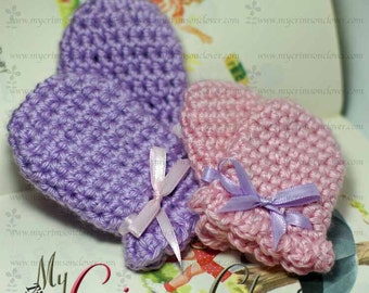 Crochet Pattern Baby Mittens - SWEET LIL MITTS