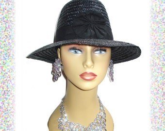 Vintage 1960s Hat Made In Italy Designer Dress Hollywood Garden Party Mad Men Rockabilly Femme Fatale Couture
