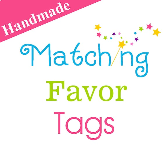 12 Matching Favor Tags