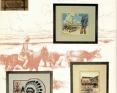Vintage 1980s Cross Stitch Booklet Puckerbrush Goes Out West Book II Western Counted Cross Stitch