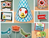 Little Monster Girl Birthday Party Pack Personalized PDF File