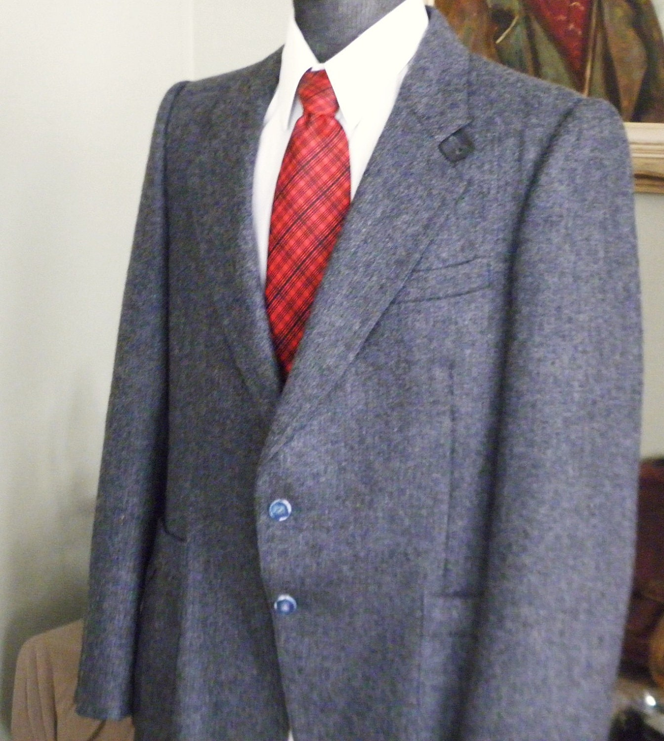 Vintage Mens McGregor Tweed Jacket Mens Tweed Blazer-Sport