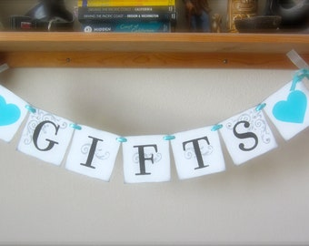 GIFTS banner CUSTOM to your wedding colors