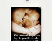 The two most important days of your life Game Tile  Pendant