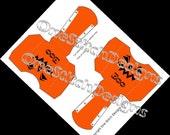 Printable Halloween Jack O Lantern Boo French Fry Carton Favor Gift Box Orange and Black DIY Halloween
