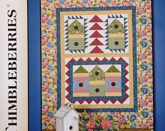 50%OFF | Thimbleberries | Lynette Jensen | GARDEN VILLAGE | Patchwork Quilt | Applique Quilt | Wall Quilt | Quilt Pattern | Quilt Template