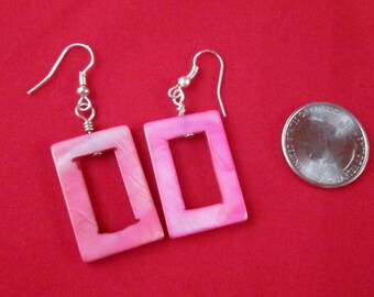 Pink Geometrics Mother of Pearl Earrings