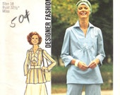 1970s Vintage Embroidered Tunic Pattern Simplicity 7374 (Womens size 10)